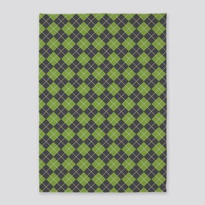 Argyle_Green1_Large 5'x7'Area Rug