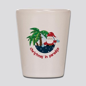 Christmas In Paradise Shot Glass