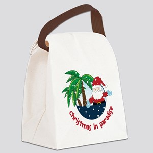 Christmas In Paradise Canvas Lunch Bag