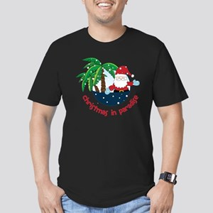 Christmas In Paradise Men's Fitted T-Shirt (dark)