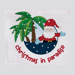 Christmas In Paradise Throw Blanket
