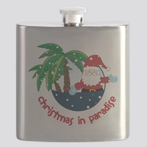 Christmas In Paradise Flask