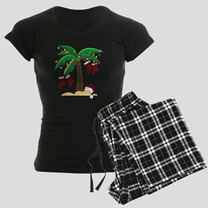 Tropical Christmas Women's Dark Pajamas