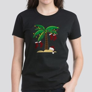 Tropical Christmas Women's Dark T-Shirt