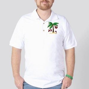 Tropical Christmas Golf Shirt