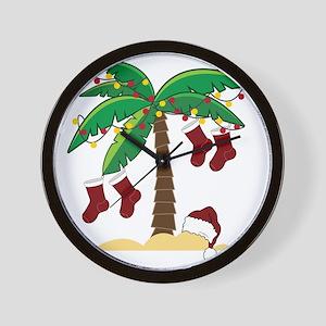 Tropical Christmas Wall Clock