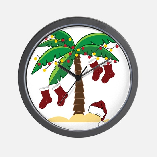 Tropical Christmas Wall Clock
