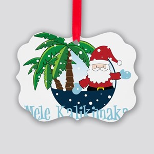 Mele Kalikimaka Picture Ornament