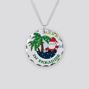 Merry In Paradise Necklace Circle Charm
