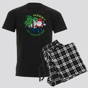 Merry In Paradise Men's Dark Pajamas