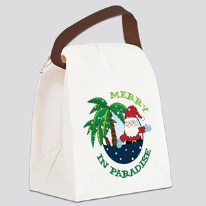 Merry In Paradise Canvas Lunch Bag
