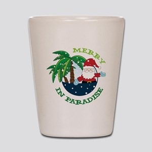 Merry In Paradise Shot Glass