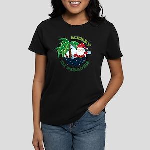 Merry In Paradise Women's Dark T-Shirt