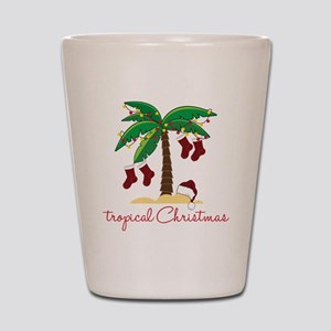 Tropical Christmas Shot Glass