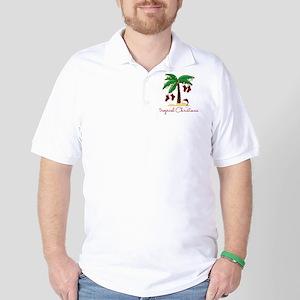 Tropical Christmas Golf Shirt