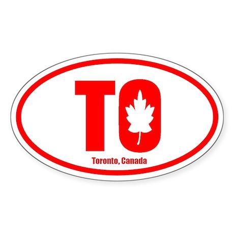 Toronto-Leaf Oval Sticker