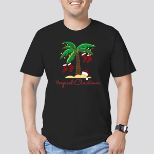 Tropical Christmas Men's Fitted T-Shirt (dark)