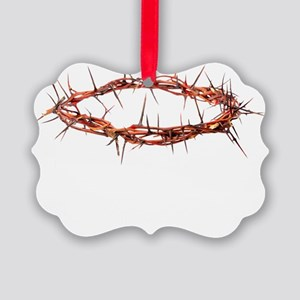 Crown of Thorns Black T Picture Ornament