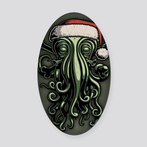 cthulhu-claus-JRNL Oval Car Magnet