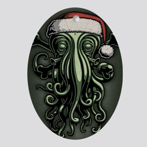 cthulhu-claus-JRNL Oval Ornament