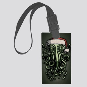 cthulhu-claus-JRNL Large Luggage Tag