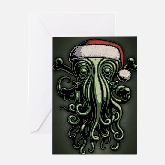 cthulhu-claus-JRNL Greeting Card