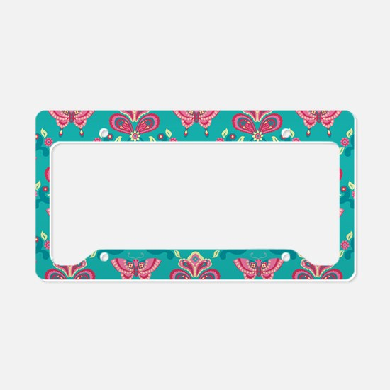 Butterfly_Teal_Large License Plate Holder