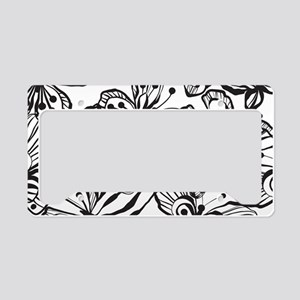 BWButterfly_BW_Large License Plate Holder