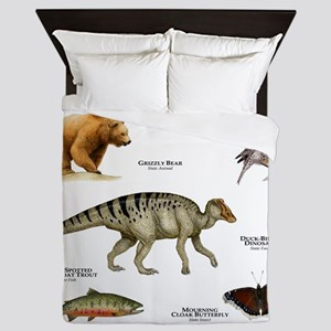 Montana State Animals Queen Duvet