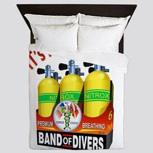 Scuba Happy Hour Queen Duvet
