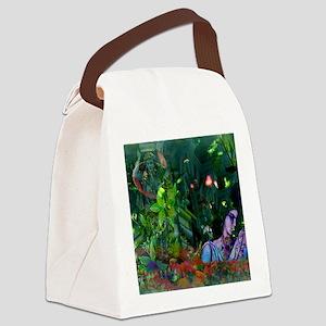 No Secrets Square Canvas Lunch Bag