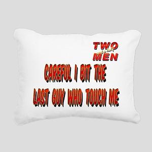 TWO and HALF MEN Careful Rectangular Canvas Pillow