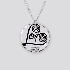 White: Heart Me Necklace Circle Charm