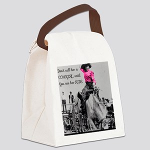 Dont call her a cowgirl until you Canvas Lunch Bag