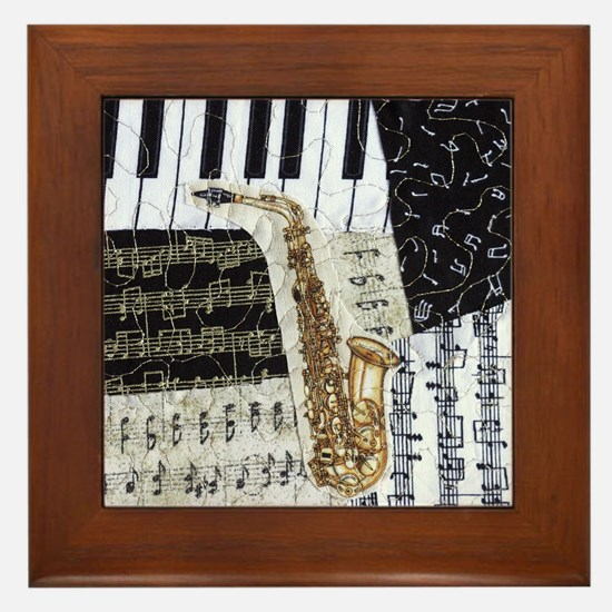 0555-ipad-sax Framed Tile