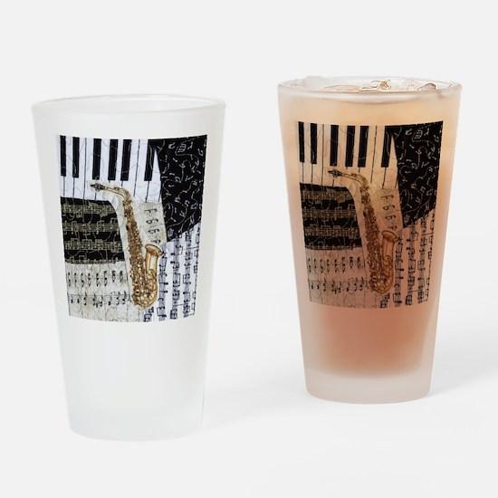 0555-ipad-sax Drinking Glass