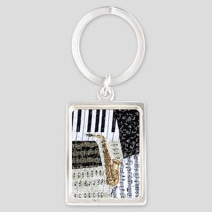 0555-ipad-sax Portrait Keychain