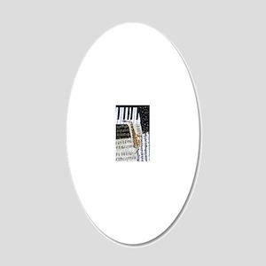 0555-sax 20x12 Oval Wall Decal