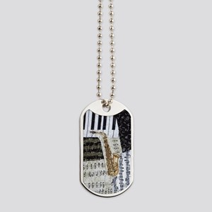 0555-sax Dog Tags