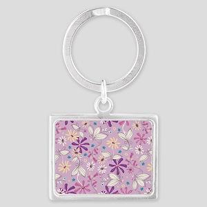 FlowerBotanical_Lilac_Large Landscape Keychain