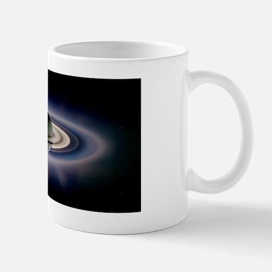 Saturn silhouetted, Cassini image Mug