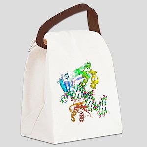 DNA polymerase molecule Canvas Lunch Bag