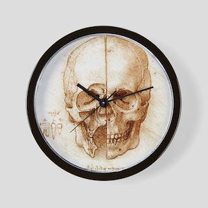 Skull anatomy by Leonardo da Vinci Wall Clock
