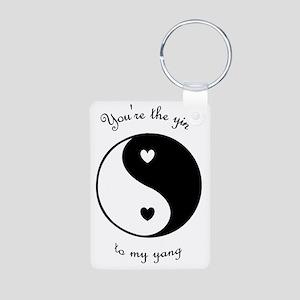 The Yin to my Yang Aluminum Photo Keychain