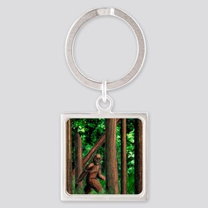 bigfoot walking Square Keychain