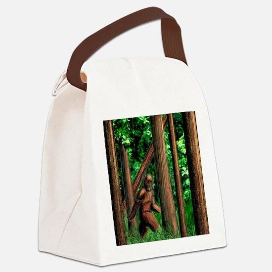 bigfoot walking Canvas Lunch Bag
