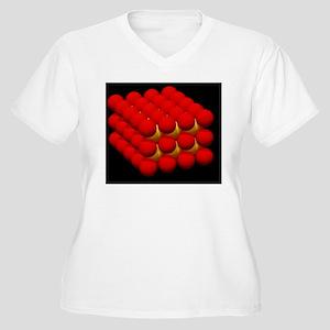 Body-centred cubi Women's Plus Size V-Neck T-Shirt