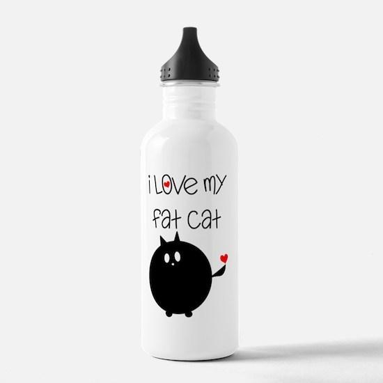 Fat Cat Love Water Bottle