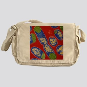 E. coli bacteria Messenger Bag