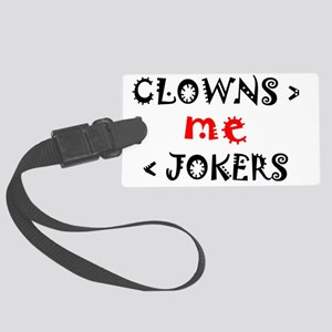 Clowns and Jokers Large Luggage Tag